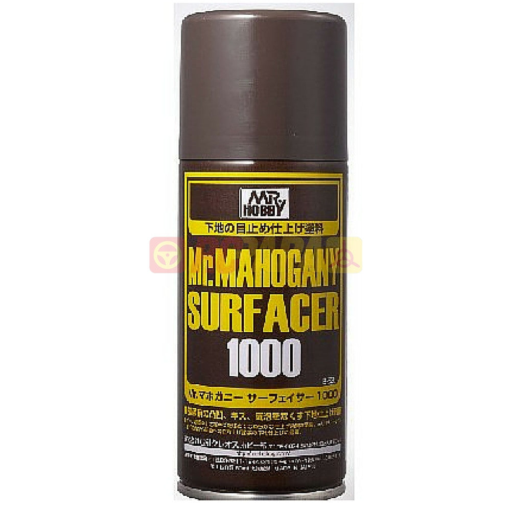 Mr. Hobby Mr. Mahogany (Dark Brown) Surfacer 1000 170ml Spray B528 - RC Papa