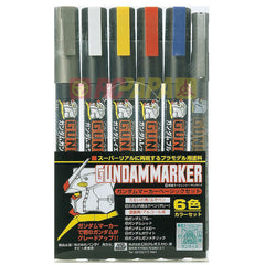Mr. Hobby Gundam Marker Pen (Basic 6 Color) GMS105 - RC Papa