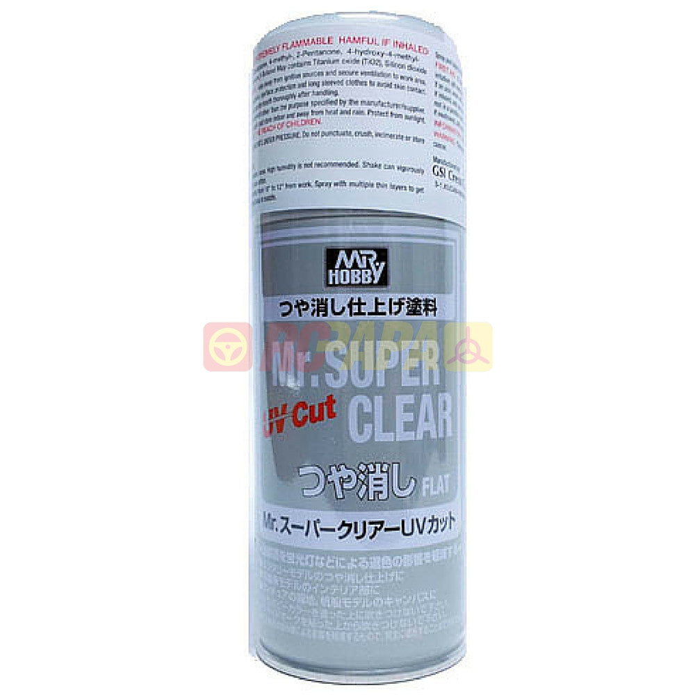 Mr. Hobby Mr. Super Clear UV Cut Flat Matt 170ml Sealant Spray B523 - RC Papa