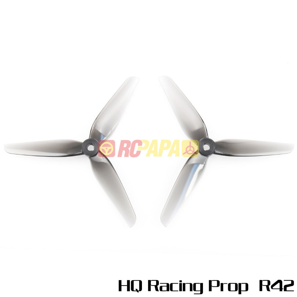 HQProp Racing Prop R42 Light Grey Poly Carbonate Propellers - RC Papa