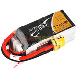 Tattu 1300mAh 14.8V 75C 4S1P Lipo Battery Pack for FPV Race - RC Papa