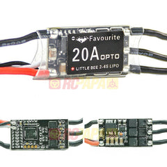 FVT LittleBee 20A 2-4S ESC OPTO for Multirotor (support OneShot125) - RC Papa