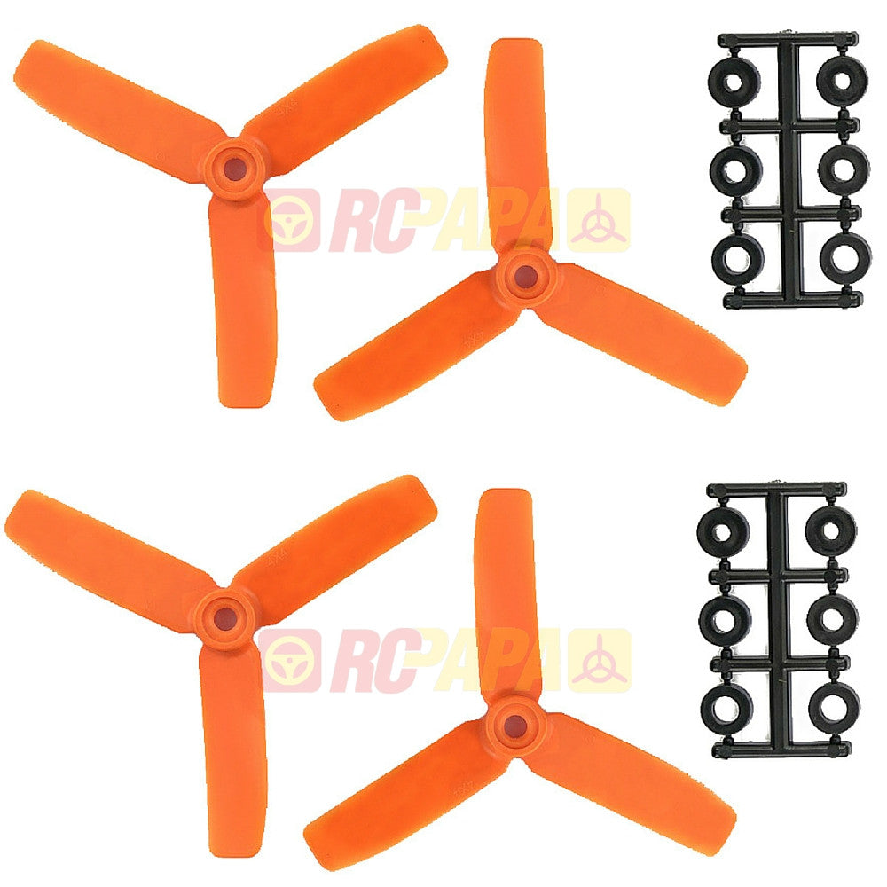 "HQ 4"" 4x4.5x3 Tri-Blade Glass Fiber Propellers - RC Papa - 1"