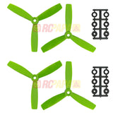 100 Set HQ 5x4.5x3 Tri-Blade Glass Fiber Propellers (Green/Orange/Black) - RC Papa