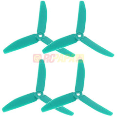 "HQ 5"" 5x4x3 Tri-Blade Glass Fiber Propellers (Skitzo Blue) - RC Papa"