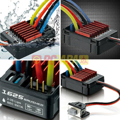 Hobbywing Quicrun Brushed Waterproof ESC 25A 1625 for 1/16 RC - RC Papa