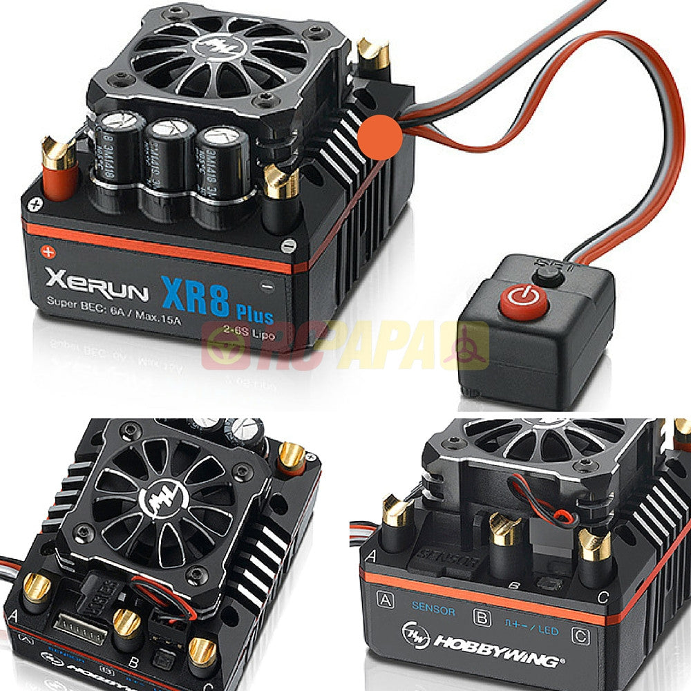 Hobbywing XERUN XR8 Plus 150A Sensored Brushless ESC for 1/8 RC Competition - RC Papa