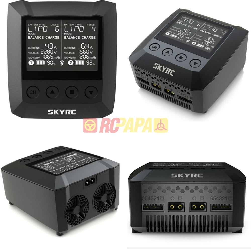 SkyRC B6 Nano Duo 2x100W 15A Smart Battery Charger Discharger Support SkyCharger App