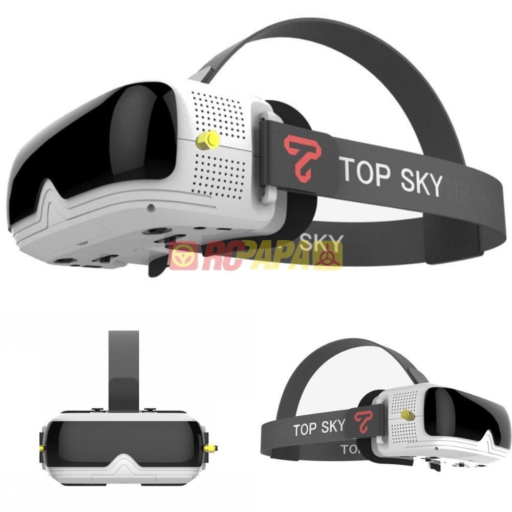 TopSky Prime 1S 5.8G 48CH FPV Goggle Diversity Receiver Built-In Battery DVR - RC Papa