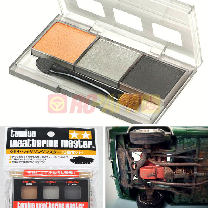 Tamiya 89962 Weathering Master I Set for Car Chassis - RC Papa