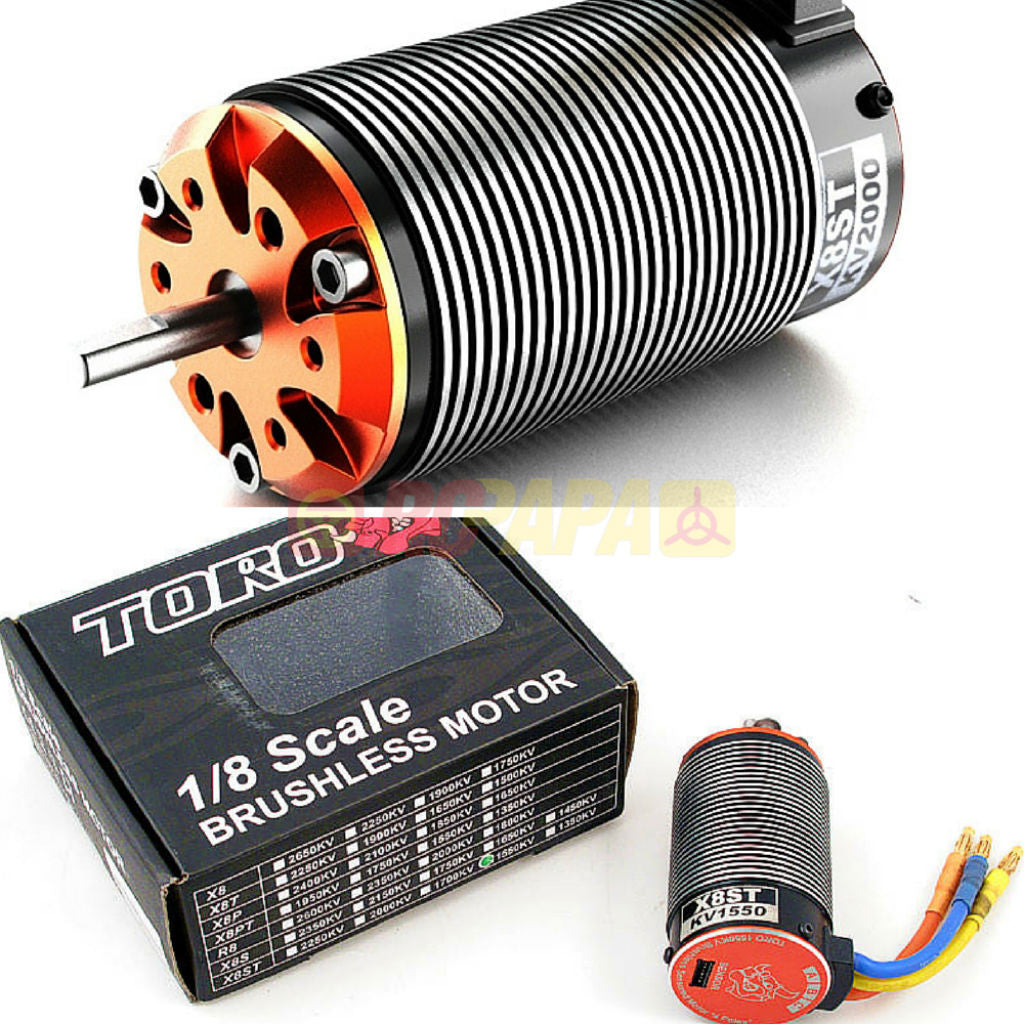SkyRC Toro X8ST Brushless Sensored Motor for 1/8 Truggy - RC Papa