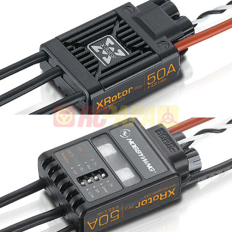 Hobbywing XRotor Pro Series 50A Brushless ESC (2pc Set) - RC Papa