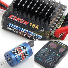 Hobbywing EZRUN 18A 2030 Brushless Combo for 1/16 1/18 RC - RC Papa