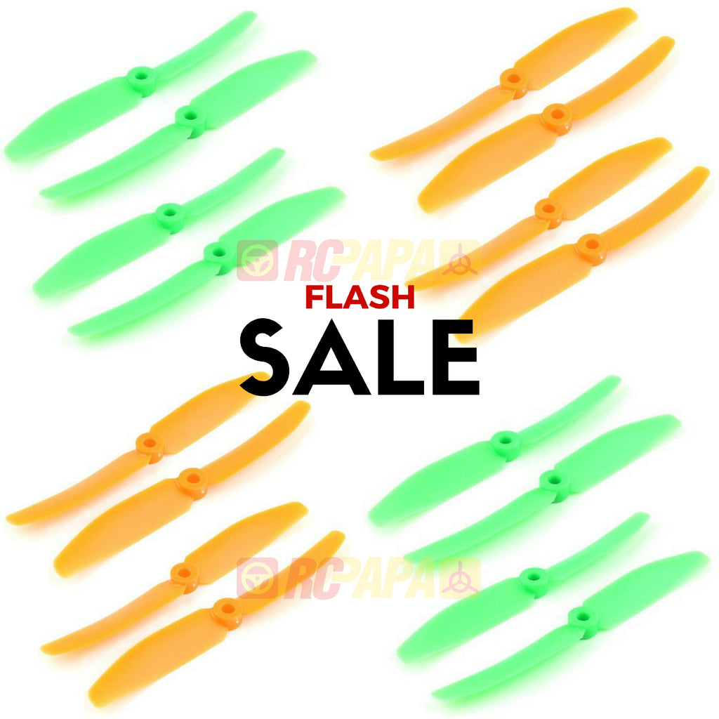 10 Set Gemfan 5040 ABS Propellers (Green/Orange) - RC Papa