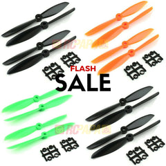 10 Set Gemfan 6045 ABS Propellers (Green/Orange/Black)