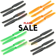 10 Set Gemfan 6030 ABS Propellers (Green/Orange/Black) - RC Papa