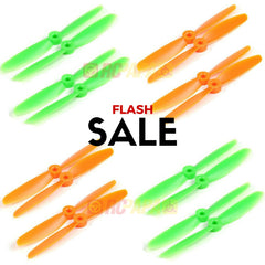 10 Set Gemfan 5045 ABS Propellers (Green/Orange)