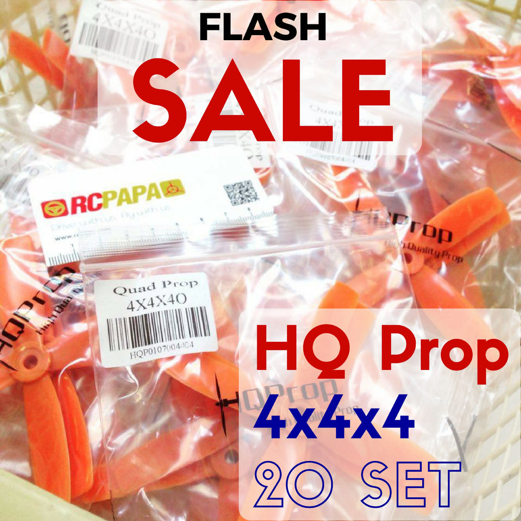 20 Set HQ 4x4x4 Propellers (Orange) - RC Papa