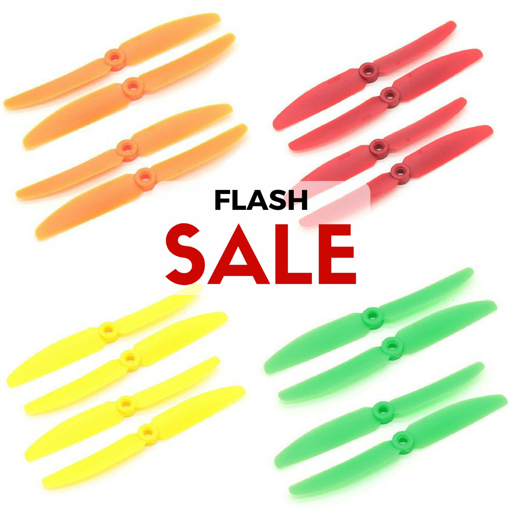 10 Set Gemfan 5030 ABS Propellers (Green/Yellow/Red/Orange) - RC Papa