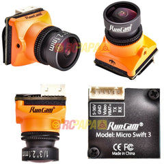 RunCam Micro Swift 3 FPV Camera (2.1mm Lens, IR-Blocked) - RC Papa