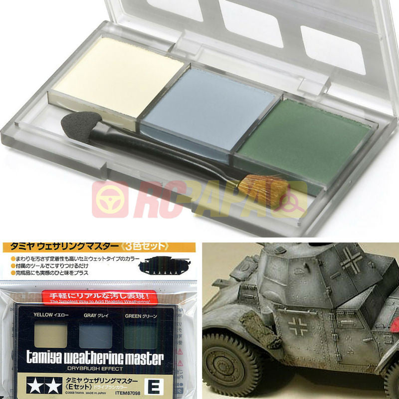 Tamiya 87098 Weathering Master E Set Yellow Gray Green - RC Papa - 1