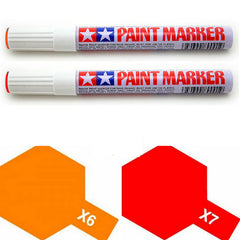 Tamiya Paint Marker Orange Red X6 X7 89006 89007 Combo - RC Papa