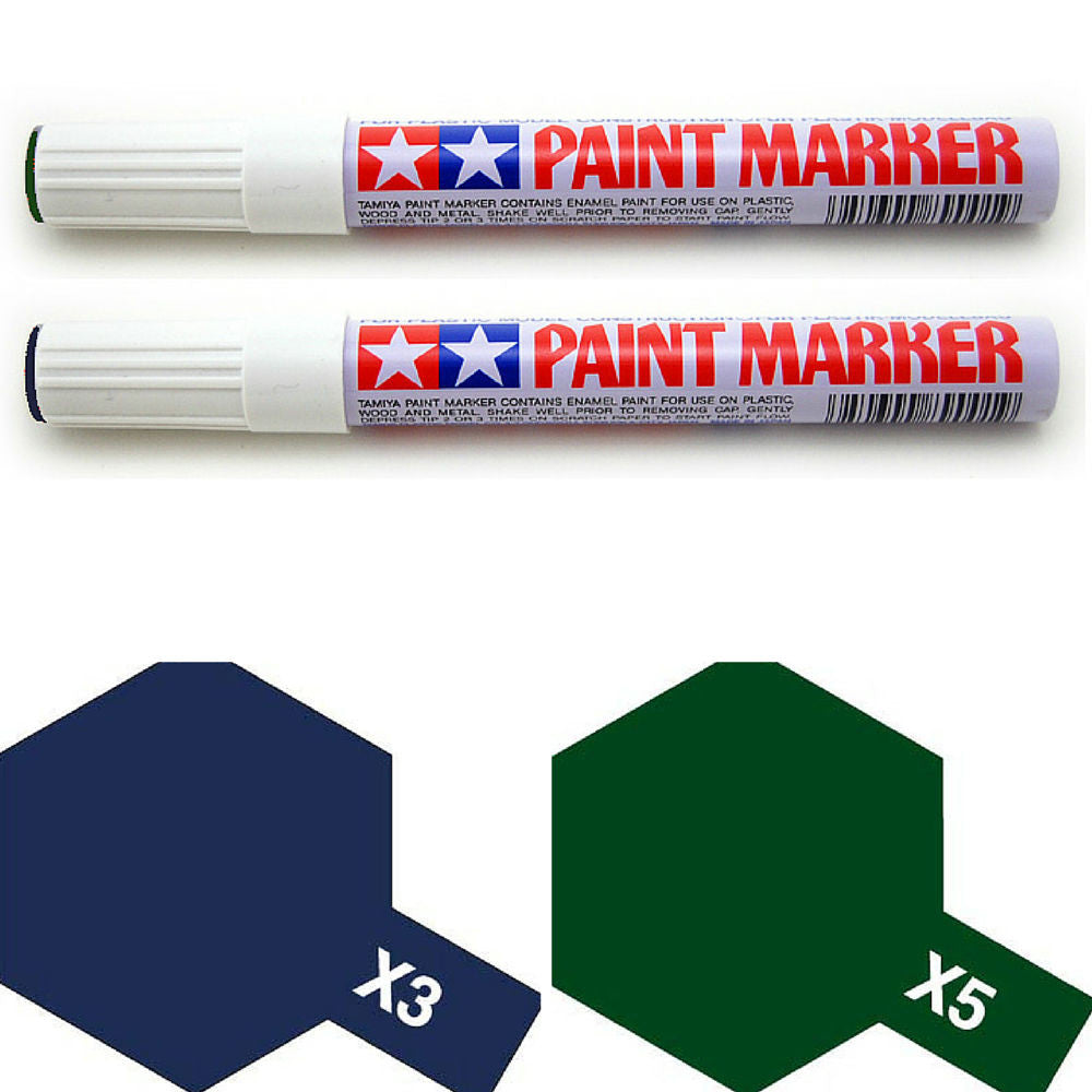 Tamiya Paint Marker Royal Blue Green X3 X5 89003 89005 Combo - RC Papa