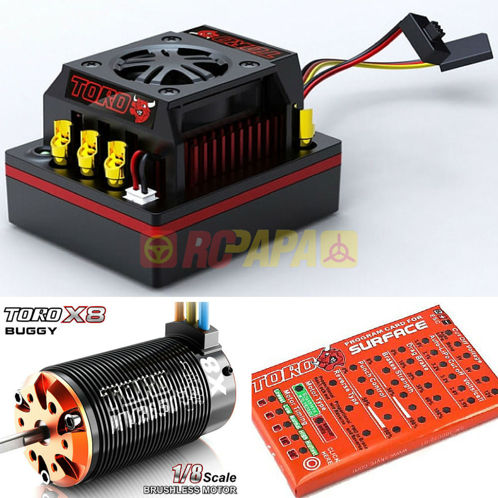 Skyrc Toro 8 150a X8 Brushless Combo For 1 Buggy Rc Papa Extreme Controller Wiring Diagram