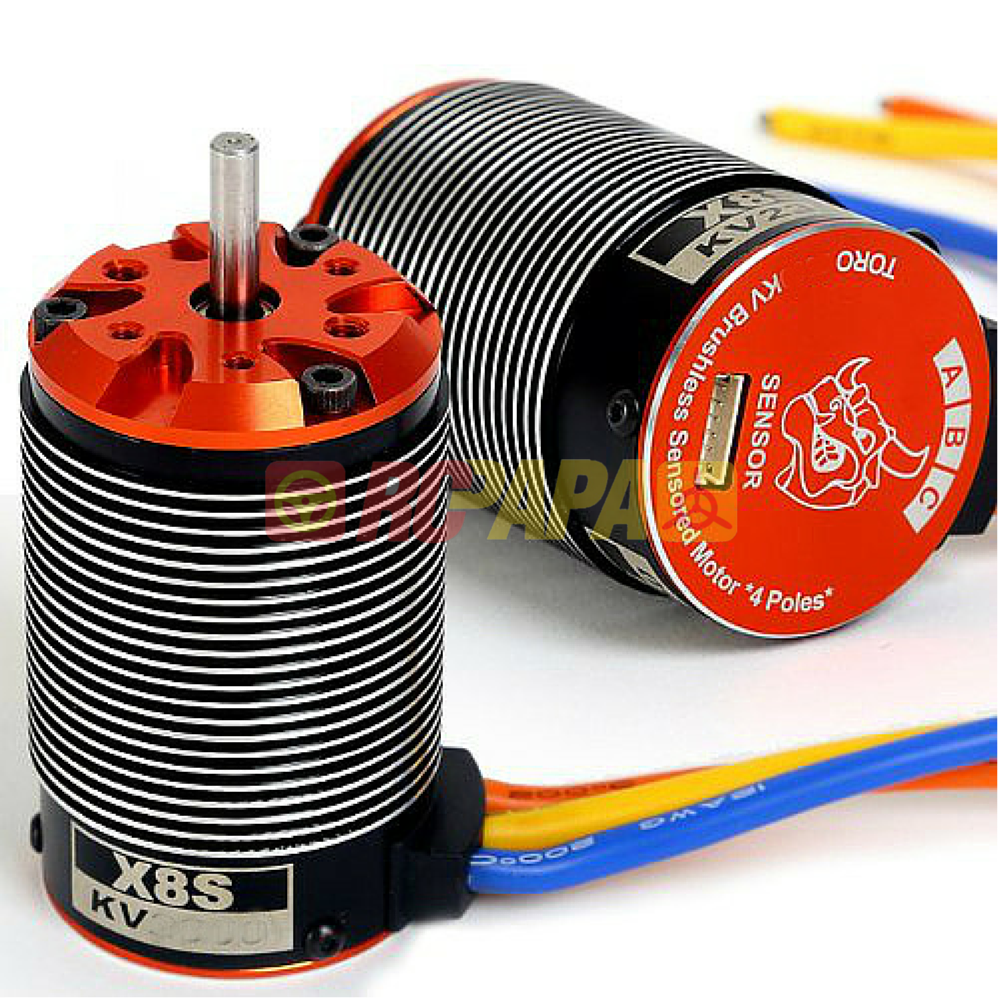 SkyRC Toro X8S Brushless Sensored Motor for 1/8 Buggy - RC Papa - 1