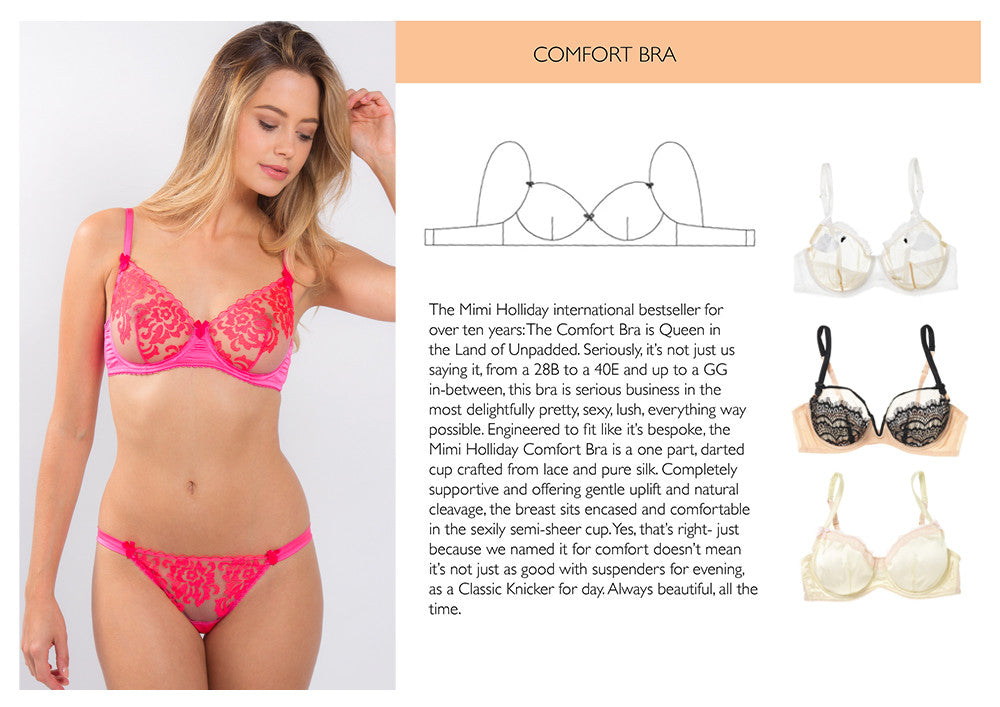 Bra Size Guide | Comfort Bra | Mimi Holliday Lingerie