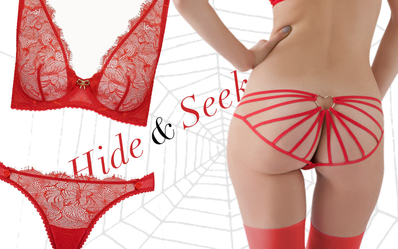 Mimi Holliday | Verstecken | Halloween | Luxus Dessous | Rote Wäsche