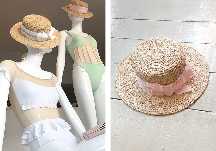 Jess Collett & Mimi Holliday diseñador de lujo Beach Boater sombreros