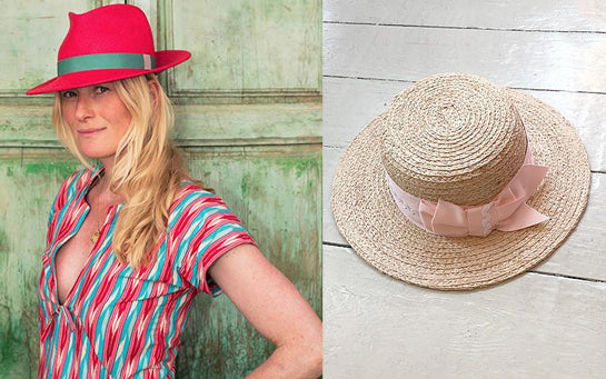 Jess Collett et Mimi Holliday | Chapeau de luxe Designe Boater