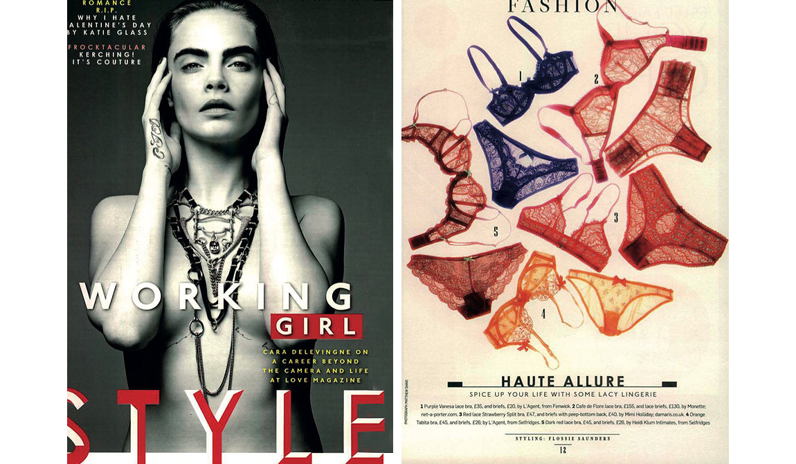 Sunday Times Style | Mimi Holliday Luxus Designer Dessous