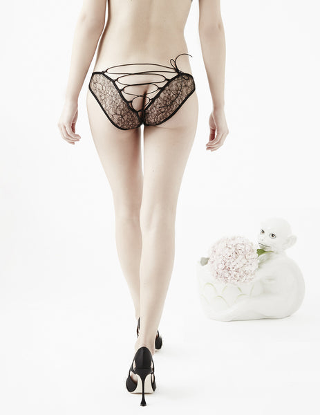 Amaranth Black Corset Knickers | Damaris Sexy Lingerie