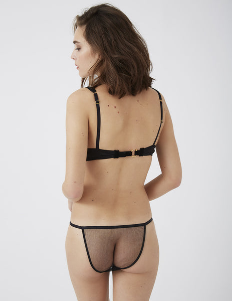 Amaranth Musta Hipsterit | Damaris Luxury Lingerie