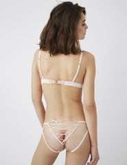 Oxygen Pink Corset Knickers | Damaris Luxury Lingerie