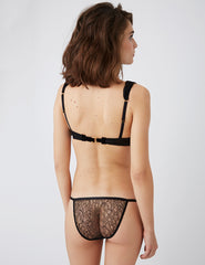Amaranth Pink Black Bogen BH | Damaris Luxus Dessous