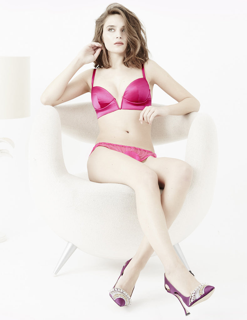 Copal Pink V Bra | Damaris Luxury Lingerie