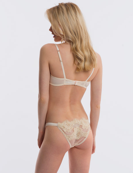 Cream Lace Hipster Knickers | Дизайнерское белье Mimi Holliday