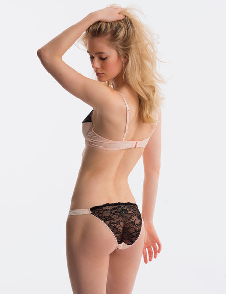 Pink Black Lace Hipster Knickers | Mimi Holliday Luxury Lingerie