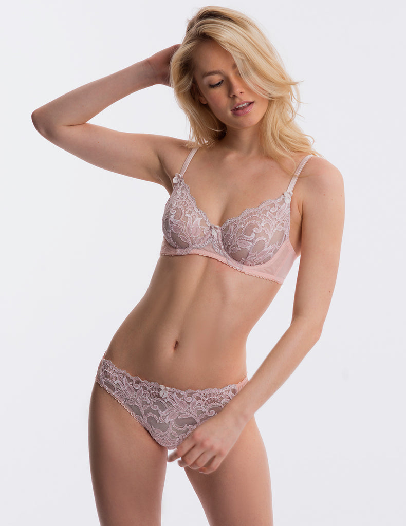 Pink Lace Brief Knickers | Mimi Holliday Designer Undertøj
