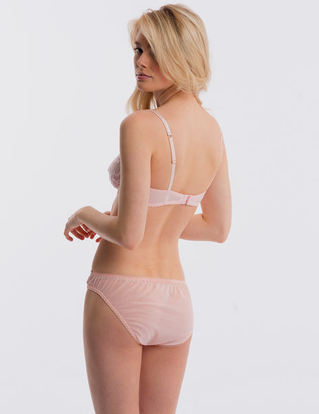 Pink Lace Brief Knickers | Mimi Holliday Luxury Lingerie