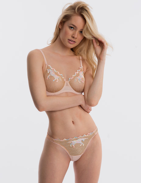 Unicorn Nude Lace Comfort Bra | Mimi Holliday Luxury Lingerie