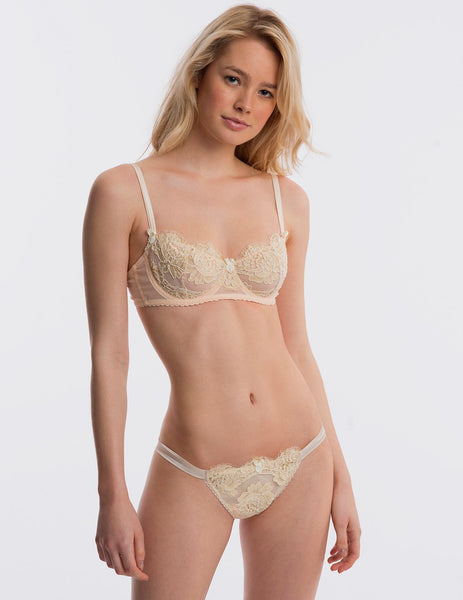 Creme Spitzen Balcony Bra | Mimi Holliday Luxus Dessous