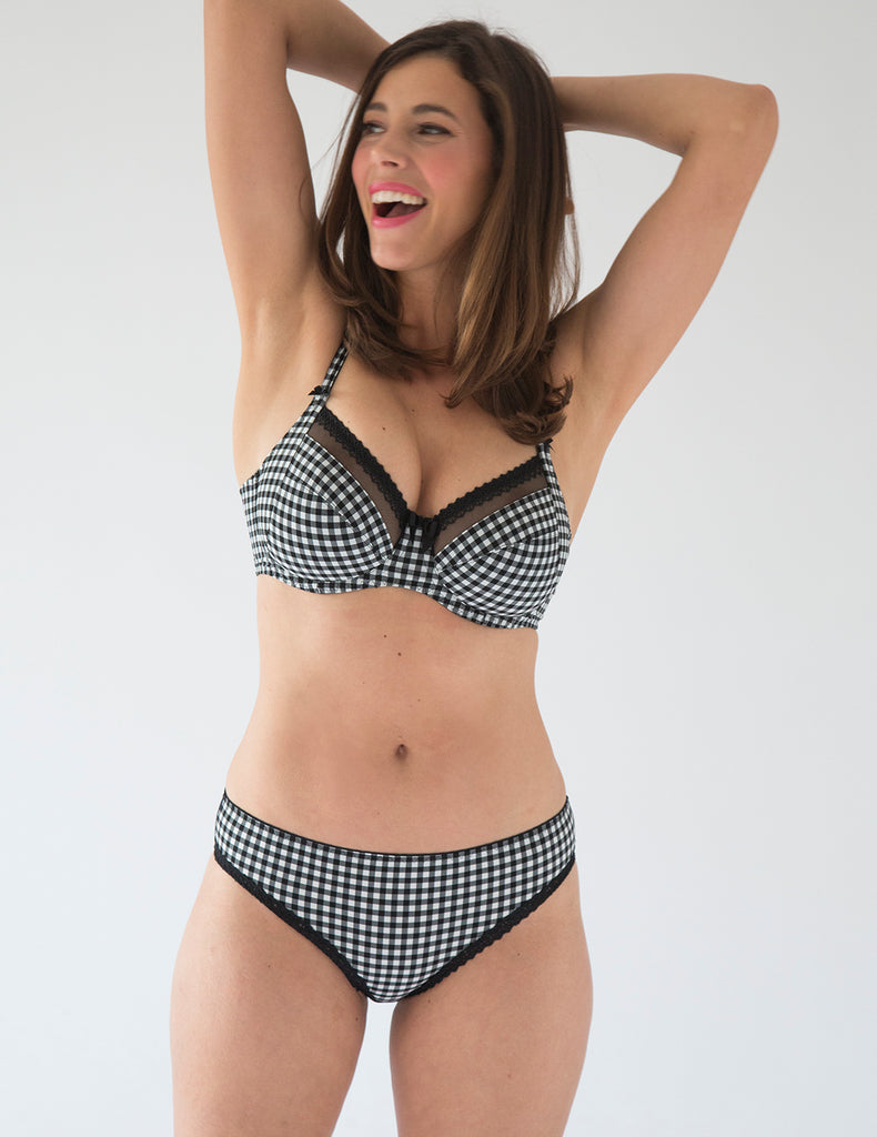 Vichy Gingham Brief Knicker