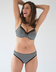 Vichy Gingham Slip Brief