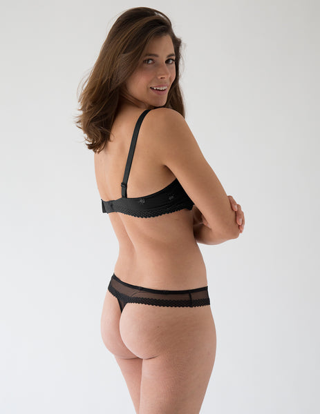 Chantilly Onyx Invisible Thong