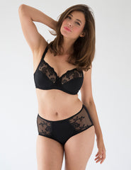 Elise Noir High Waisted Support Brief