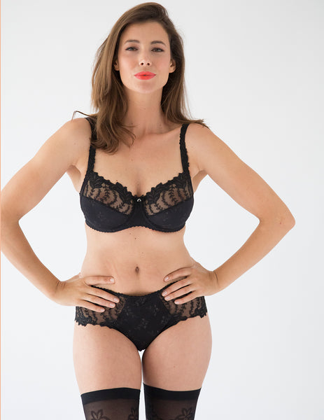 Lys Royal Noir Full Cup Support bra D-H Cup